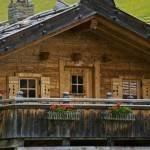 Historical mountain village on the Fane Alp